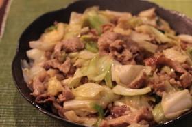 簡単!白菜と豚肉の味噌炒め