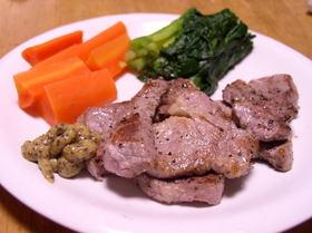 豚ヒレ肉のマスタードソテー