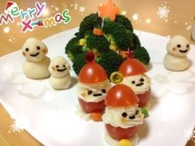 ☆簡単!可愛い!クリスマスサラダプレート