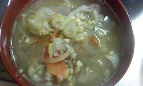 おいしいコラボ♪ 納豆汁風味の豚汁♡♡