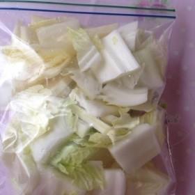 白菜の冷凍保存♫