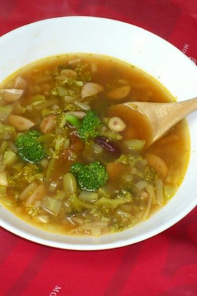 残り野菜であったかスープ!