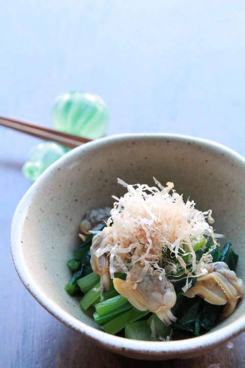 小松菜とあさりのお浸し