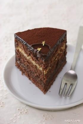 2人用クリスマスケーキ★チョコ珈琲ケーキ
