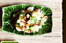 トントロと長芋の山椒焼き