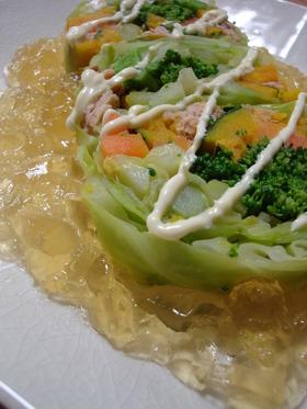 ツナと野菜のテリーヌ風サラダ