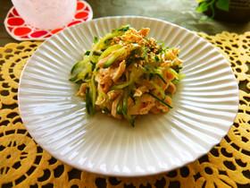 作り置き◎鶏ささみ&胡瓜の柚子胡椒ポン酢