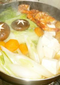 パパのおでん風野菜鍋