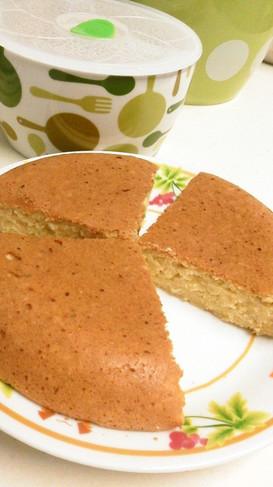 炊飯器で!生おからの蜂蜜豆乳ケーキ
