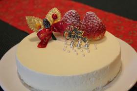クリスマスに簡単濃厚レアチーズケーキ