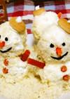 犬用雪だるまケーキ(クリスマス)