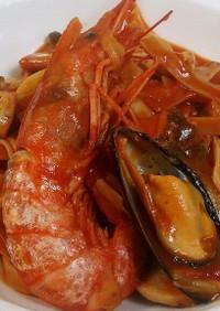 10分魚介パスタ