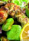 牡蠣とアボカドのソテー