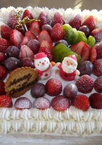 大きなクリスマスデコレーションケーキ