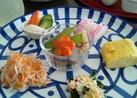 ゴマドレで☆柿とほうれん草の白和え