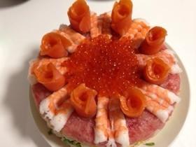 クリスマスイブ♪ちらし寿司ケーキ❤️