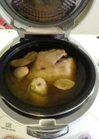 炊飯器で丸どりのコンフィ
