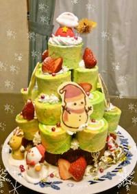 ロールケーキタワーでツリーケーキ☆