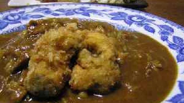 カレー カキフライ 山椒