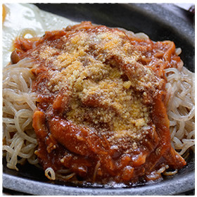 簡単!こんにゃくミートソーススパゲッティ