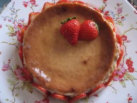 春色!苺のベイクドチーズケーキ
