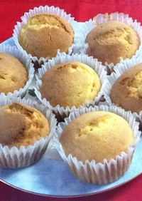 アーモンドプードルのカップケーキ