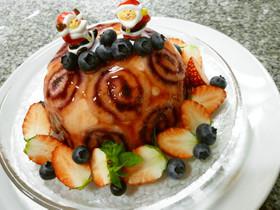 パンで簡単!可愛い☆クリスマスケーキ☆
