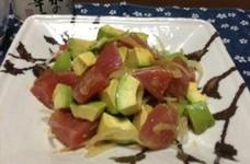 日本酒に合う☆マグロとアボカドのサラダ