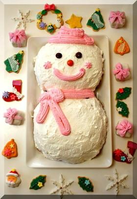 * クリスマスケーキ ★ スノーマン♪