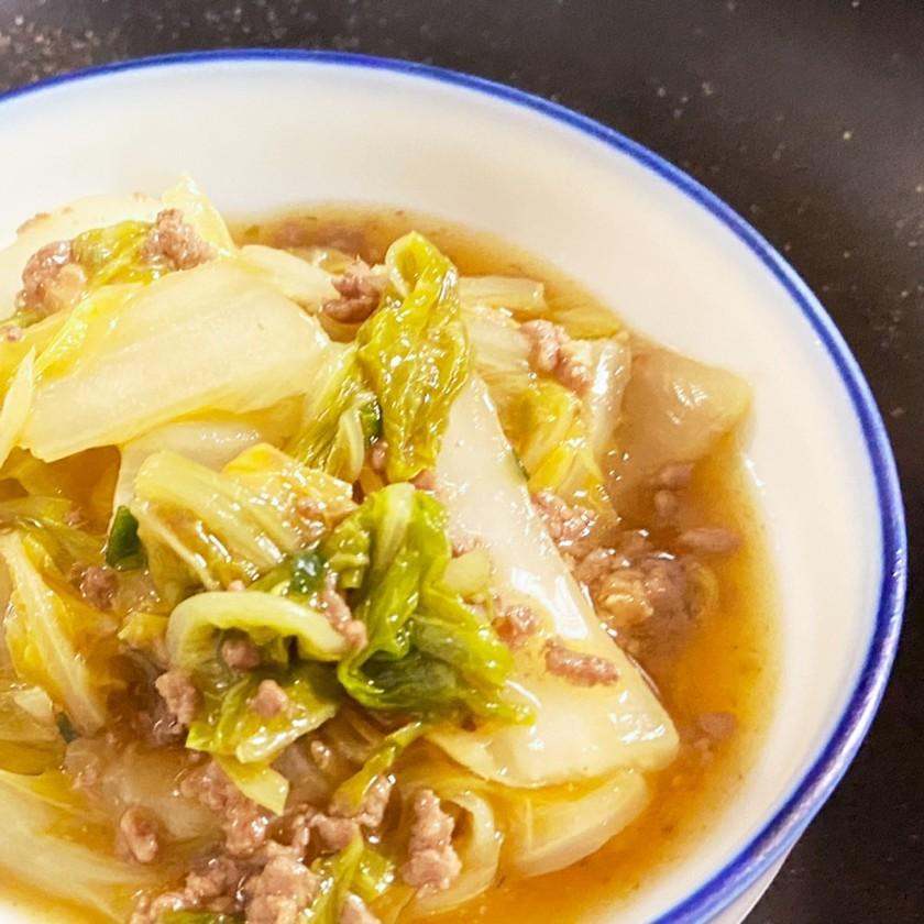 白菜大量消費★麻婆豆腐の素で【麻婆白菜】