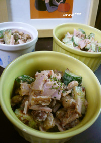 ●きゅうりハムお豆の和えサラダ●