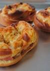大豆粉で作る低糖質パン*ハムマヨパン*