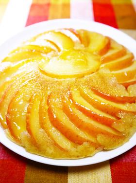 フライパンで♪HMりんごケーキ(皮付き)