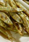 フライパンでワカサギ炒め(カレー味)