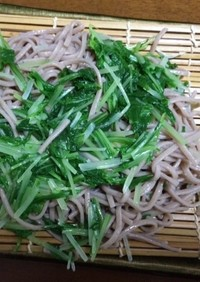 水菜入りつけ蕎麦with大根