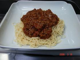 簡単ミートスパゲティー