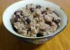 圧力鍋で簡単!玄米と押し麦と小豆のごはん