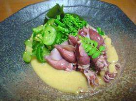 ☆ホタルイカの酢味噌添えゴマ風味☆