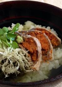 ◎鮒寿司のわさび茶漬け◎