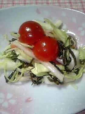 冷蔵庫の残り物で、簡単サラダ