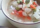 10分で簡単☆根菜と枝豆の優しいスープ☆