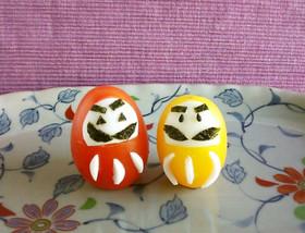 合格祈願☆トマトと卵で簡単必勝だるま
