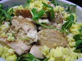 豆腐とチキンのおかずサラダ