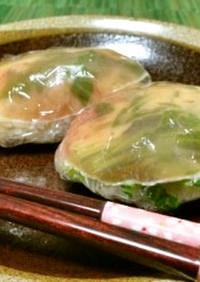 生ハムとルーコラの簡単サラダ寿司