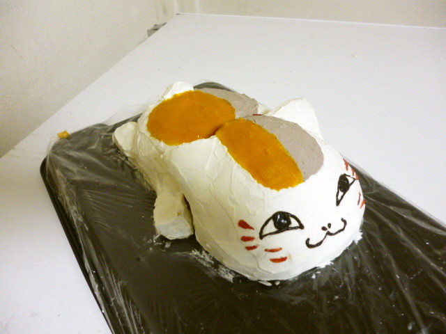 ニャンコ先生3Dケーキ 無着色 立体