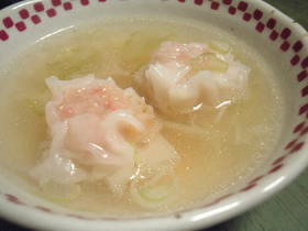 ネギたっぷりシュウマイ中華スープ