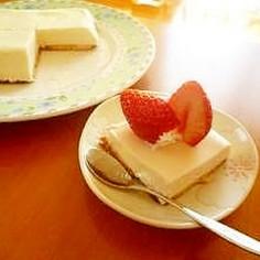 ママの簡単♡レアチーズケーキ