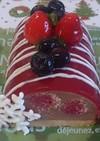 ラズベリーとチョコムースクリスマスケーキ