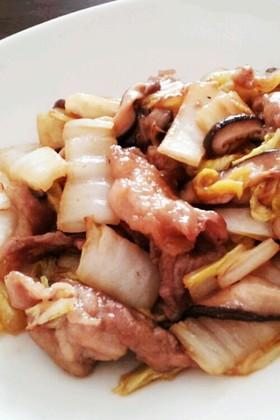 豚こまと白菜のオイスター炒め
