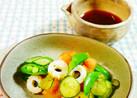 スナップエンドウと竹輪・胡瓜のサラダ♪